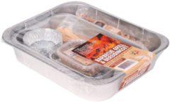 Zilveren Tapas Lily Barbecue Grill & Bereidingsset - 9-delig