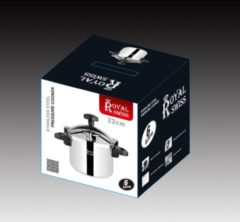 Zilveren Royal Swiss roestvrij staal snelkookpan (inox) 10L