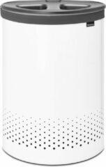 Witte Brabantia Selector Wasmand - 55 l - White met Dark Grey kunststof deksel