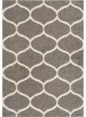 Impression Madrid Shaggy Design Vloerkleed Grijs Hoogpolig- 80x150 CM
