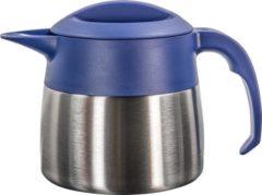 Isoleerkan EasyClean mini 0,9 liter rvs met blauw kunststof dop en handgreep