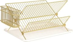 Gouden Present Time (Pt,) Dish rack gold plated