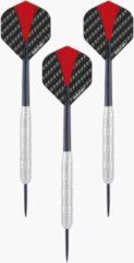 2x Set van 3 dartpijlen Longfield darts nickel silver 22 grams - Darten/darts sport artikelen pijltjes nickel silver - Kinderen/volwassenen