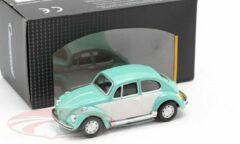 Volkswagen Beetle Classic Turquoise / Wit 1:43 Cararama
