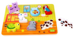 Tooky Toy Vormenpuzzel Huisdier Junior 30 Cm Hout 8-delig