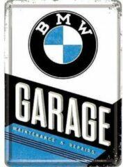 Nostalgic Art Merchandising BMW Garage Metalen Postcard 10x14 cm