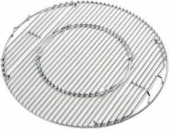 Roestvrijstalen Jx BBQ Systeem - Grillrooster van RVS voor 57 CM Kettle BBQ's (o.a. geschikt voor Weber)