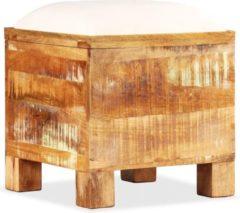 Bruine VidaXL Opslagbankje 40x40x45 cm massief gerecycled hout