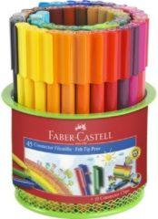 Faber Castell Viltstift Faber-Castell Connector 45 stuks in metalen blik groen