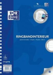 Oxford Ringbandinterieur Voor Ft A4, 23-gaatsperforatie, Met Kantlijn, 200 Bladzijden, Gelijnd