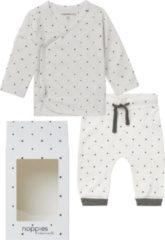 Noppies GiftSet(2delig) Unisex Shirt en Broek Wit Sterretjes - Maat 50