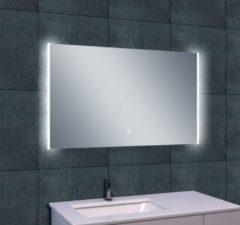 Douche Concurrent Badkamerspiegel Wiesbaden Duo 100x60cm Geintegreerde LED Verlichting Verwarming Anti Condens Lichtschakelaar Dimbaar