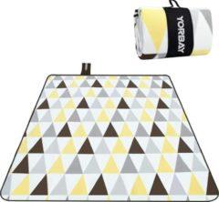 Sens Design XXL Waterdicht Picknickkleed – 200x200 cm – Buitenkleed Geel