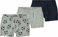 Grijze Name it Jongens 3-Pack Boxershorts Onderbroeken - Grey Melange - Maat 86