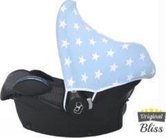 Wallabiezzz Bliss Maxi Cosi Autostoel Zonnekap - Ster Lichtblauw
