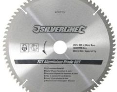 Silverline Hartmetall-Sägeblatt für Aluminium T80 456915
