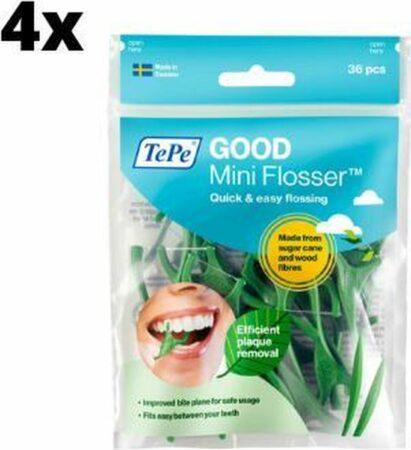 Afbeelding van Groene TePe Good Mini Flosser - 4 stuks - Voordeelverpakking