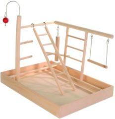 Bruine Trixie Speelplaats Hout Voor Kanarie En Parkiet - 35 x 5 x 27 cm