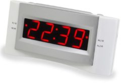 Soundmaster UR122 UKW-Uhrenradio, mit USB Ladeanschluss, verschiedene Farben Farbe: Weiß
