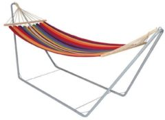 Grijze Sunburst Lesliliving - Hangmat in frame - Multicolor