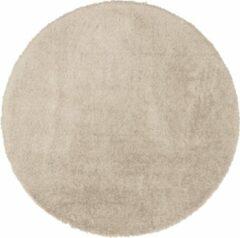 Flooo Rond vloerkleed - Tapijten Woonkamer - Hoogpolig - Mokka - 200 cm