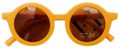 Kinder Zonnebril | Mat Okergeel | Vintage | UV400 | Fashion Favorite