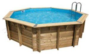 Afbeelding van Ubbink zwembad hout 'Oc?a' 430 cm x 120 cm