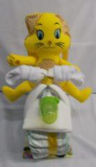 Sabinesgeschenkenshop.be Brommer groot bunny geel