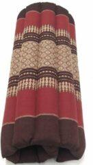 VDD Thai thoughts Meditatie yoga matje kussen GROOT origineel rolmatrasje thais design 70 cm x 70 cm Burgundy Rood
