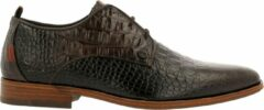 Donkerbruine Rehab Greg Croco Vnz Formal Shoe Men Dark Brown 42