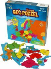 GEOToys Geopuzzel Wereldkaart Europa - 58 puzzelstukjes