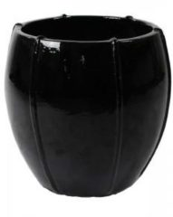 Ter Steege Moda bowl bloempot 43x43x43 cm zwart