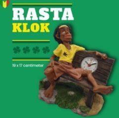 Groene Klokje staand wiet accesoires – tafelklok met rasta weed fan van reggae zanger Bob Marley uit Jamaica | GerichteKeuze