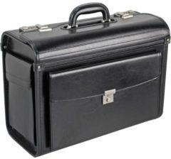 Pilotenkoffer Leder 45 cm Dermata schwarz