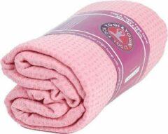 Yogi & Yogini Yoga Handdoek Siliconen Antislip Roze