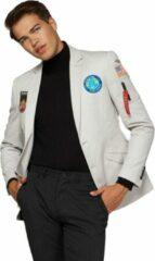 Grijze OppoSuits Deluxe Outer Space - Astronaut - Heren Blazer - Casual - Space Grey - Maat EU 54
