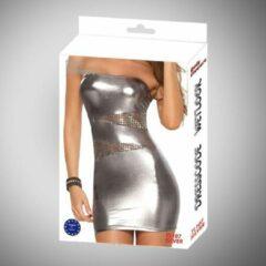 Body Pleasure - Wetlook Lingerie - Tl107 - Silver - Sexy Dress - Super gave Zilveren Jurk - Strak en uitdagend - One size fits most - gave Cadeaubox - ideaal om te geven of te ontvangen