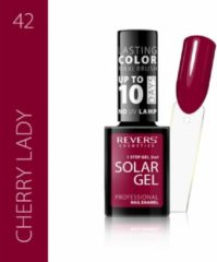 Rode REVERS® 3in1 Solar Gel Nagellak 12ml. - #42 Cherry Lady