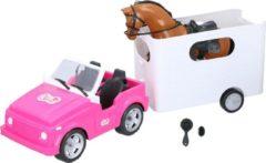 Eddy Toys jeep met paardentrailer - met paard en verzorgingsset