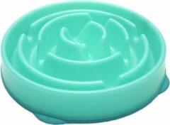 Outward Hound Voerbak Slo-Bowl Mini Drop Teal Lichtblauw - 22X22X5 CM