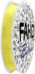 Fako Bijoux® - Elastisch Nylon Draad - Sieraden Maken - 0.6mm - 9 Meter - Geel