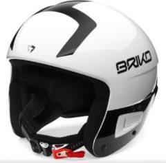 Witte Briko Vulcano Fis 6.8 Ski helmet SHINY WHITE BLACK - Maat 64