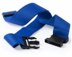Merkloos / Sans marque 2x stuks Kofferriemen blauw 180 cm