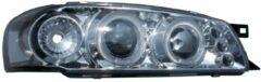 Set Koplampen Subaru Impreza 1997-2000 - Chroom - incl. Knipperlichten & Angel-Eyes