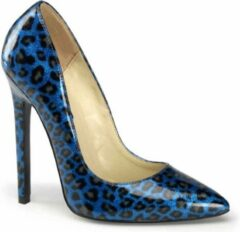 Blauwe Sexy-20 Cheetah blue pearlized patent - (EU 35 = US 5) - Devious