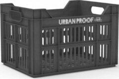 Donkergrijze Urban Proof Fietskrat 30 Liter Polypropyleen Asgrijs