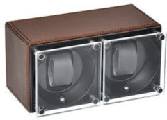 Swiss Kubik Double Leather Brown SK02.CV004 plexi