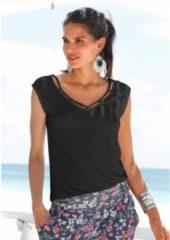 Zwarte S.OLIVER RED LABEL Beachwear strandshirt