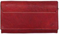 Rode DR Amsterdam Waxi Damesportemonnee 9cc red Dames portemonnee