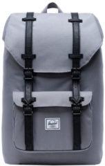 Grijze Herschel Supply Co. Little America Mid-Volume Rugzak grey/black Laptoprugzak